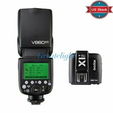 US Godox V860II-F 2.4G TTL Flashgun Speedlite + X1F Trigger Transmitter for Fuji
