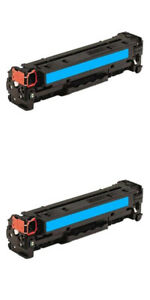 2 Compatible Cyan Toner To Replace HP 125A C ,128A C,131A C,Canon 716 C,731 C