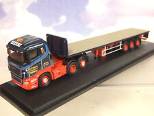 OXFORD 1/76 SCANIA HIGHLINE & FLATBED TRAILER IAN GRAIG HAULAGE DENNY 76SHL01FT