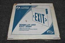 Lithonia Lighting Edg Aluminum Led Red Emergency Exit Sign Edge Lit 144ff1