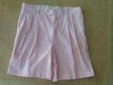 BERLE Men's Seersucker Shorts SIZE 34 Orange & White new condition