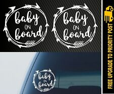 2x Baby On Board Wonderlust Car Vinyl Decal Sticker Waterproof Funny Boy Girl
