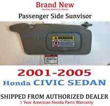2001- 2005 Honda CIVIC SEDAN Sunvisor PASSENGER (CLEAR GRAY) Genuine Factory OEM