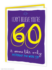 Brainbox Candy 60th Birthday Greeting Age Card funny novelty cheeky joke humour