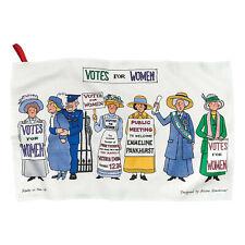Woman's Suffrage Cookbook and Tea Towel Gift Set - Recipe Book, Flour Sack Cloth