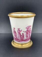 Vase en porcelaine Paris & bronze camaïeu pourpre XVIIIe Antique porcelain vase