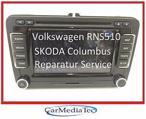 VW RNS510 RNS 510 Navigation Navi Reparatur Golf Passat Tiguan Touran Eos defekt