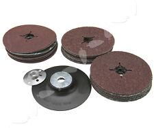 We 115mm Rubber Backing Pad for Angle Grinder 30 Fibre Sanding Discs