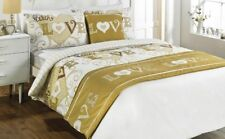 """""""With Love"""" 4 Piece Bed In A Bag – Gold – Size Double – RRP £46,99"""