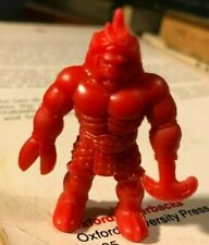 "muscle men M.U.S.C.L.E. Figure mini Mattel 80's 2"" d&d toy color red blade claw!"