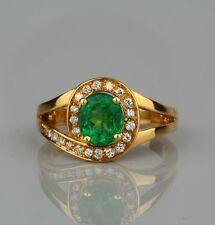 Emerald Yellow Gold Vintage Fine Jewellery (1980s)