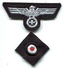 WWII German Heer Army Panzer Cap Set Eagle Iron Cross White on Black Wool Repro
