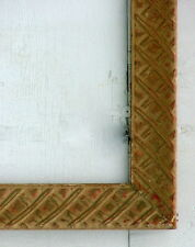 """FRAME AMERICAN CROSS HATCH MID CENTURY MODERN CARVED SOLID WOOD FITS 23"""" x 18"""""""