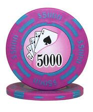 100pcs 14g Yin Yang Casino Table Clay Poker Chips $5000