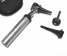 Professional Veterinary Vet Pet Otoscope Kit With Specula In Leatherette Pouch