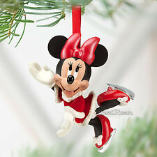 NEW 2012 Disney Store Red Santa Minnie Mouse Skating Christmas Holiday Ornament