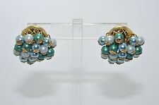 KATE SPADE Light Blue Teal / Gold Pearl Drop Dangle Pierced Earrings