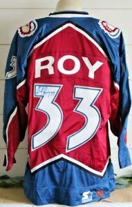 PATRICK ROY Signed Authentic Vintage COLORADO AVALANCHE NHL Starter Jersey