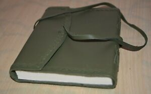 GREEN LEATHER JOURNAL ARTIST SKETCH BOOK BLANK PAGES BARNES & NOBLE