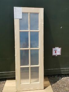 DIS3840 Howdens Pine 8 Light Clear Glazed Int. 2'3 Int. Door