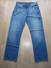 BNWT Mens Premium Loose Fit Gap Jeans W35 L35.5 Tall Long Colour Light Blue