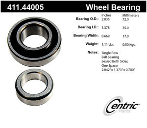 Axle Shaft Bearing Assembly-Premium Rear Centric 411.44005