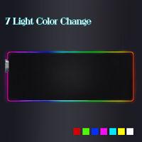 RGB LED Backlight Computer Gaming Big Large Mat Keyboard Desk Mouse Pad Carpet