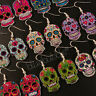FUNKY MEXICAN SUGAR SKULL EARRINGS HALLOWEEN DAY OF THE DEAD EVIL GOTHIC KITSCH