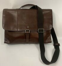 Cole Haan Brown Leather Messenger Bag Business Bag Padded Laptop