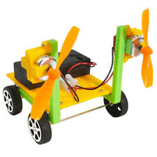 DIY Physical Science Experiment Toy Kids Wind Powered Car Assemble Model Kit
