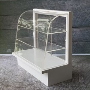 1:12 Miniature White Display Bakery Cake Cabinet Counter Shelving Case Big Size
