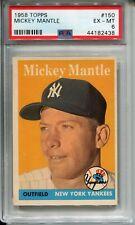 1958 Topps #150 Mickey Mantle PSA 6 EX-MT New York Yankees