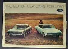 1970 Ford Stockholder Brochure LTD Mustang Torino T-bird Cougar Mercury Lincoln
