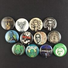 "HP Lovecraft 1"" Button Pin Lot Classic Fiction Writer Cthulu Dagon Necronomicon"