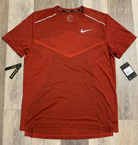 Nike Tech Knit Ultra Mens Short Sleeve Running Top Red AJ7615-498 Size Large