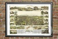 Old Map of Salmon Falls, NH from 1877 - Vintage New Hampshire Historic Decor