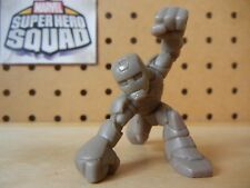 Marvel Super Hero Squad RARE TEST SHOT Tan Blank IRON MAN Downward Punch Landing