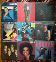 Lot Of 9 R&B Records #16 VG-NM Janet Jackson Control, Mike Pinera Isla ++ MORE