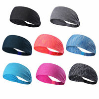 Men Women Sweat Sweatband Headband Yoga Gym Running Stretch Sports Head Band