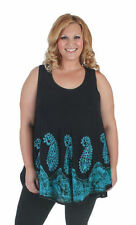 Paisley Hand-wash Only Plus Size Sleeveless Tops for Women
