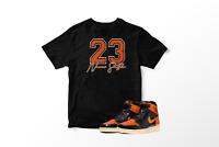 Never Settle T-Shirt To Match Jordan 1 OG Shattered Backboard Orange All Sizes