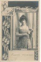Jane Hading Reutlinger Composite Real Photo Postcard - French Actress -udb- 1904