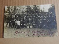 Postcard WW1 German Prisoners Group shot Real Photo