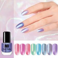 NEE JOLIE 3.5ml Nail Polish Glimmer Pearly-lustre Colorful Shiny Nail Art Polish