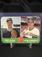 1986 Fleer Jose Canseco RC #649