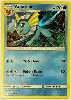 Vaporeon HOLO Hidden Fates -DECK BUILDER RARE 18/68 Pokemon Card NM