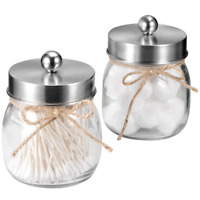 SheeChung Apothecary Jars Set,Mason Jar Decor Bathroom Vanity Storage Organizer