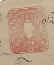 MALAYA STRAITS SETTLEMENTS (P1109B) QV EMBOSSED 10C ON 1884 PROIMISSORY NOTE