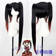 New DATE A LIVE Tokisaki Kurumi Black Mix Red Anime Party Cosplay Wig