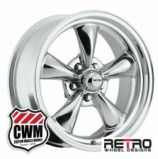 "17 inch 17x7"" Polished Aluminum Wheels Rims 5x4.50"" for Ford Mustang 1965-1973"